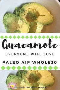 paleo AIP Whole30 guacamole