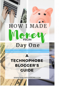 technophobe blogger beginner blogger make money blogging
