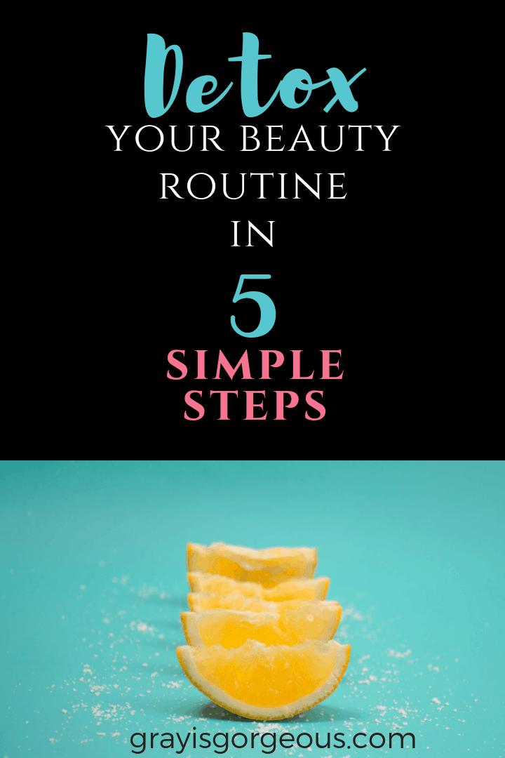 Organic skin care routine.